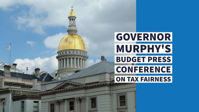 Governor Murphy Holds Budget Press Conference on Tax Fairness
