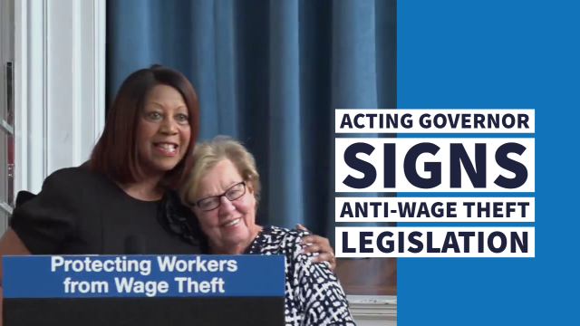 Acting Governor Oliver Signs Anti-Wage Theft Legislation